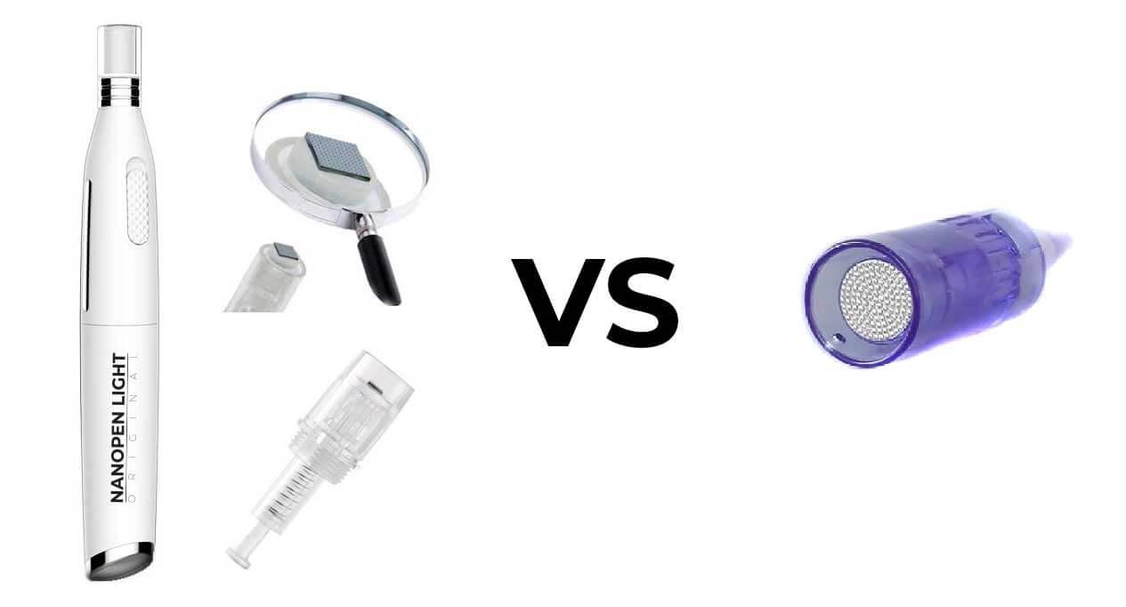 Porównanie nanodyskowego katridża w Nanopen Light Original z tradycyjnym katridżem nano dermapen