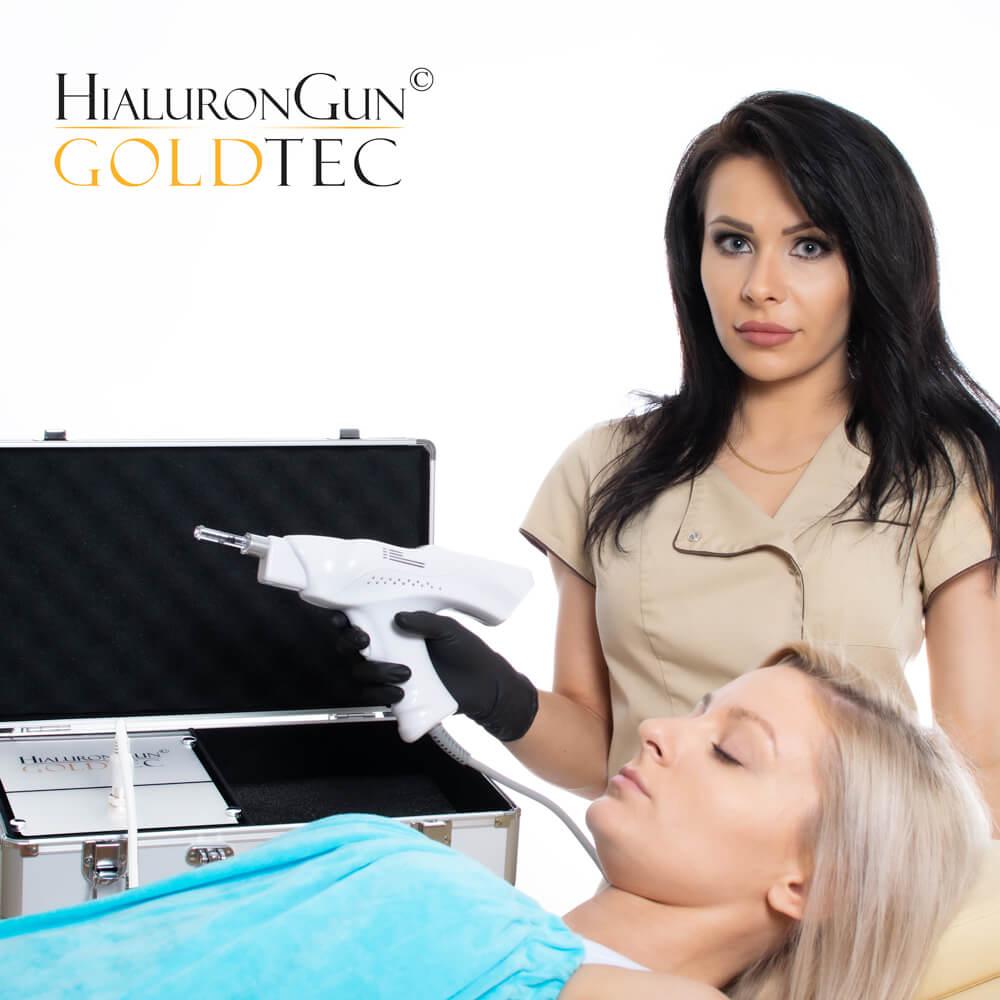 Aparat kosmetyczny do bezigłowego powiększania ust, wypełniania zmarszczek i wolumetrii kontutu twarzy