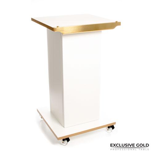 Exclusive Gold to nowoczesny stolik dla urządzeń kosmetycznych