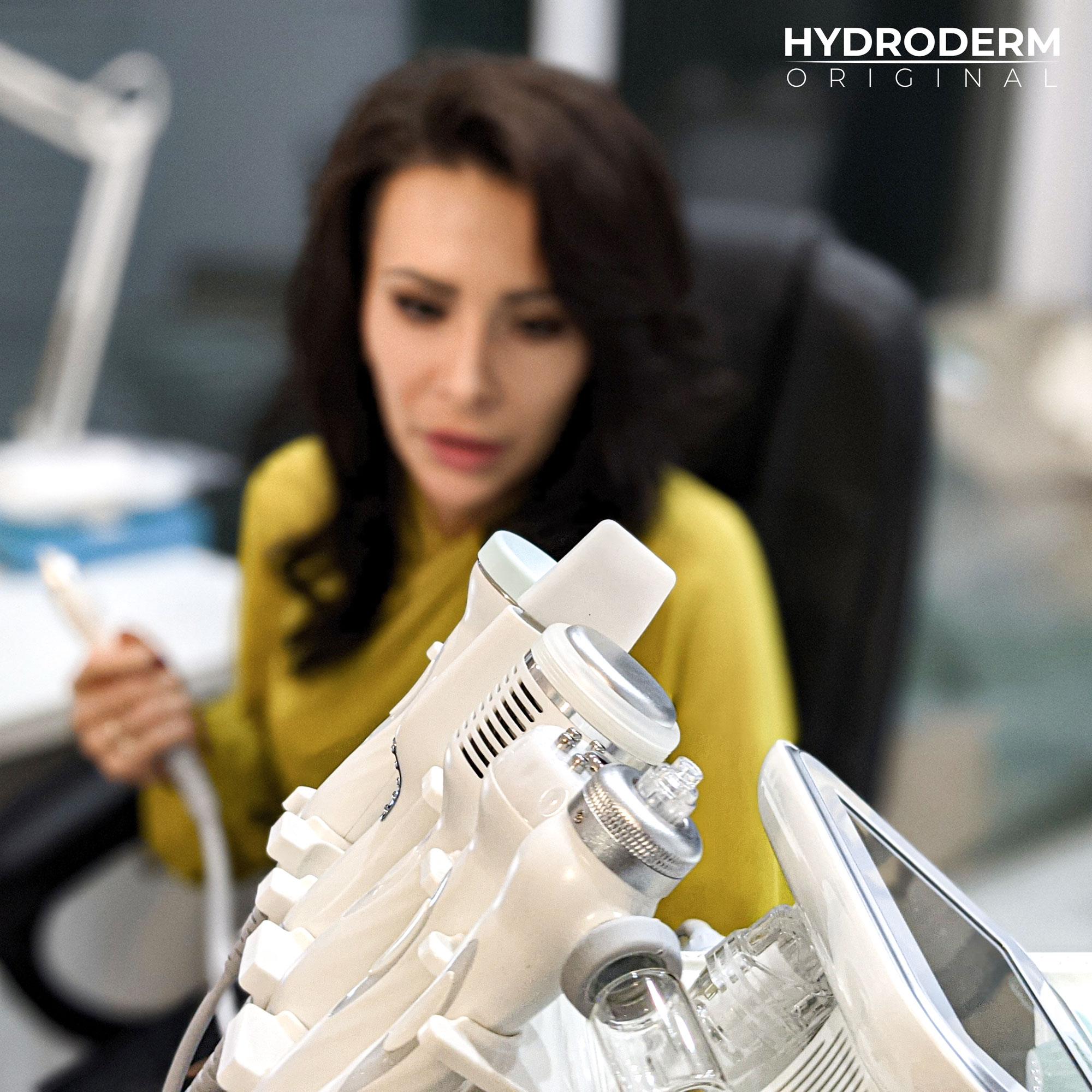 Urządzenie posiada aż 9 sztuk różnych końcówek zabiegowych do głowicy oczyszczania wodorowego