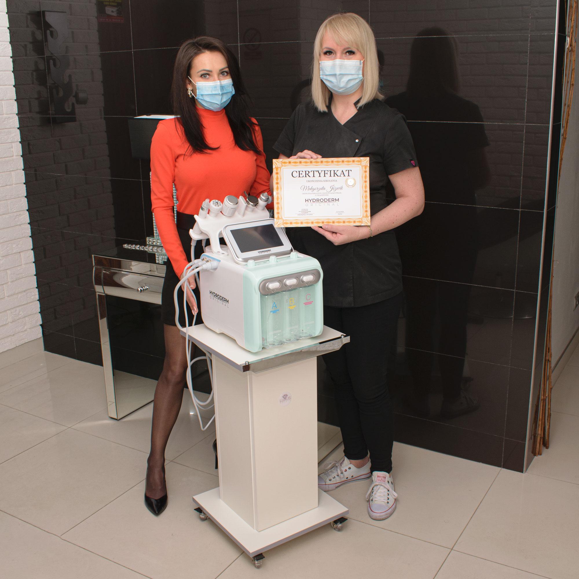 Kolejny sukces w mieście Łuków, w szkoleniu ze sprzętu kosmetologicznego - Hydroderm 9w1 Original