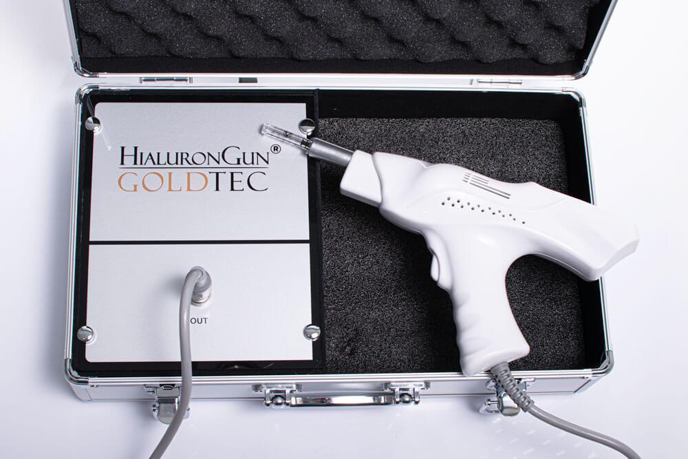 Hialurongun jest bezpieczny i efektywnie wykonuje zabiegi