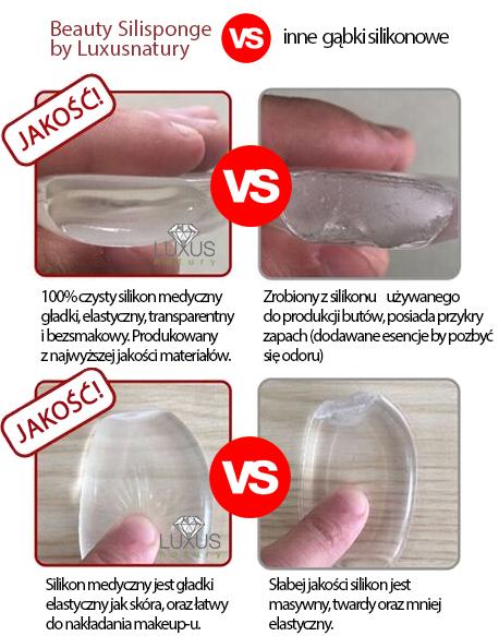 Gąbki cechują się zerową absorpcją podkładu i fluidu
