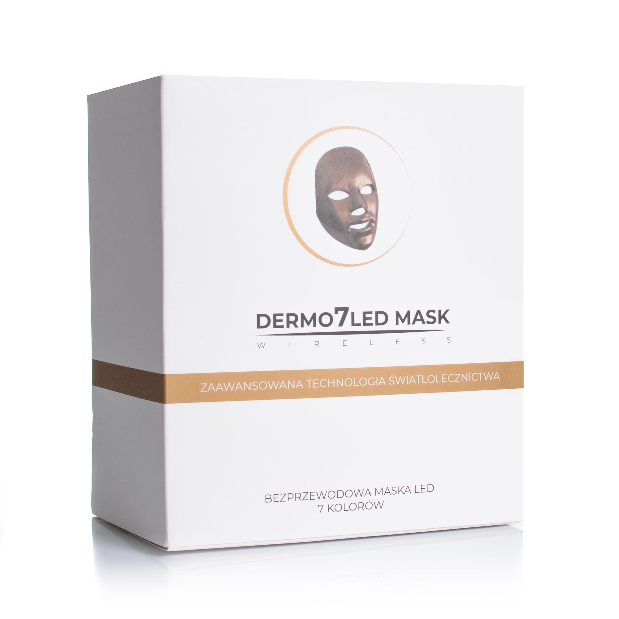Maska LED bezprzewodowa na twarz z 7 kolorami diod
