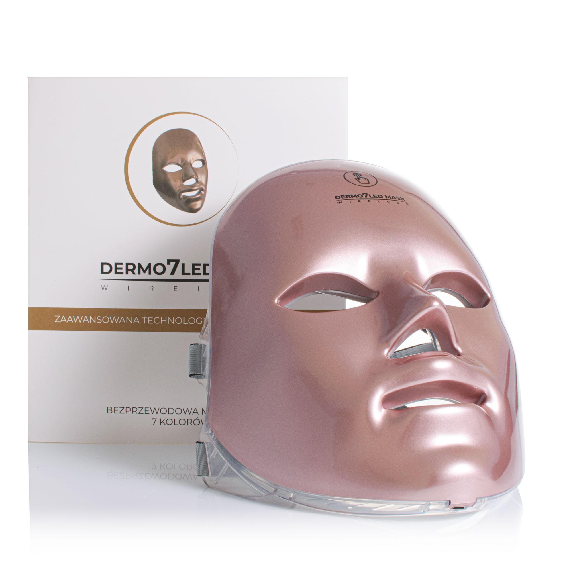 Maska LEDOWA do światłoterapii 7 kolorów diod