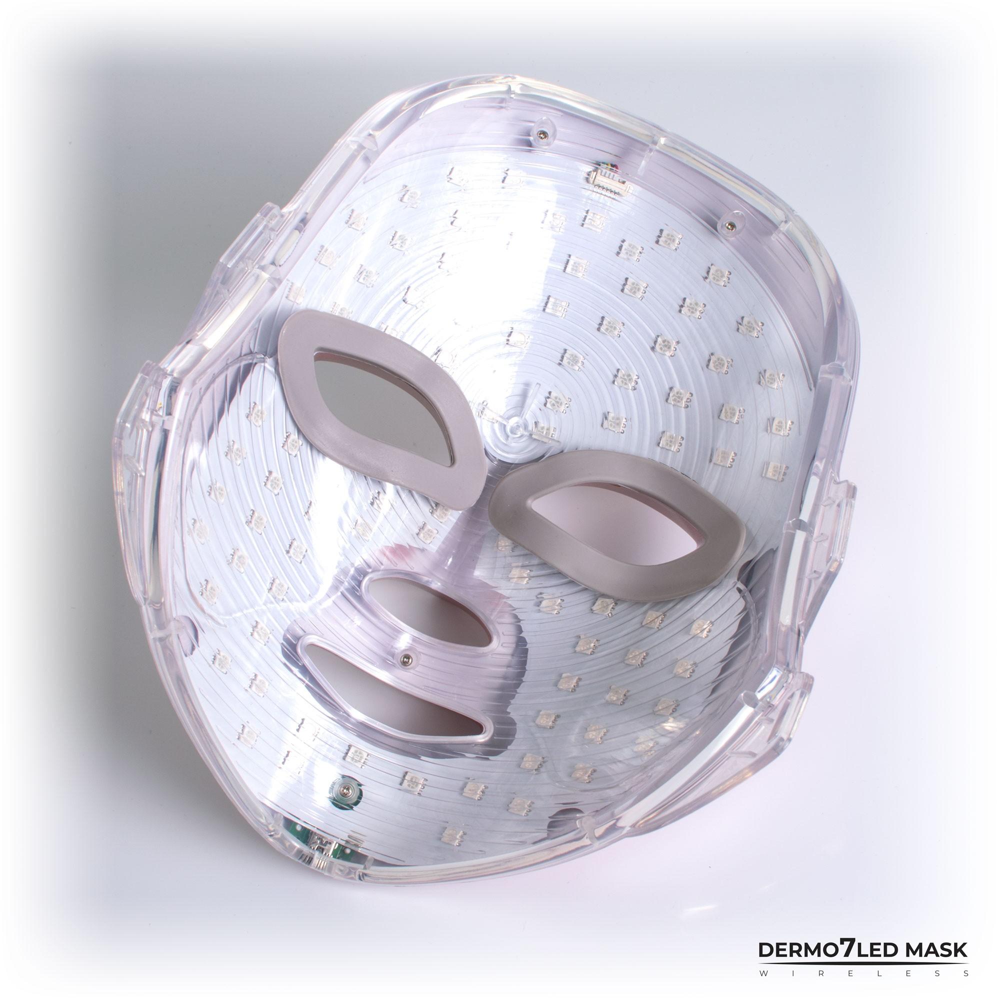Maseczka ledowa do zabiegów światłoterapii diodami LED z 7 kolorami