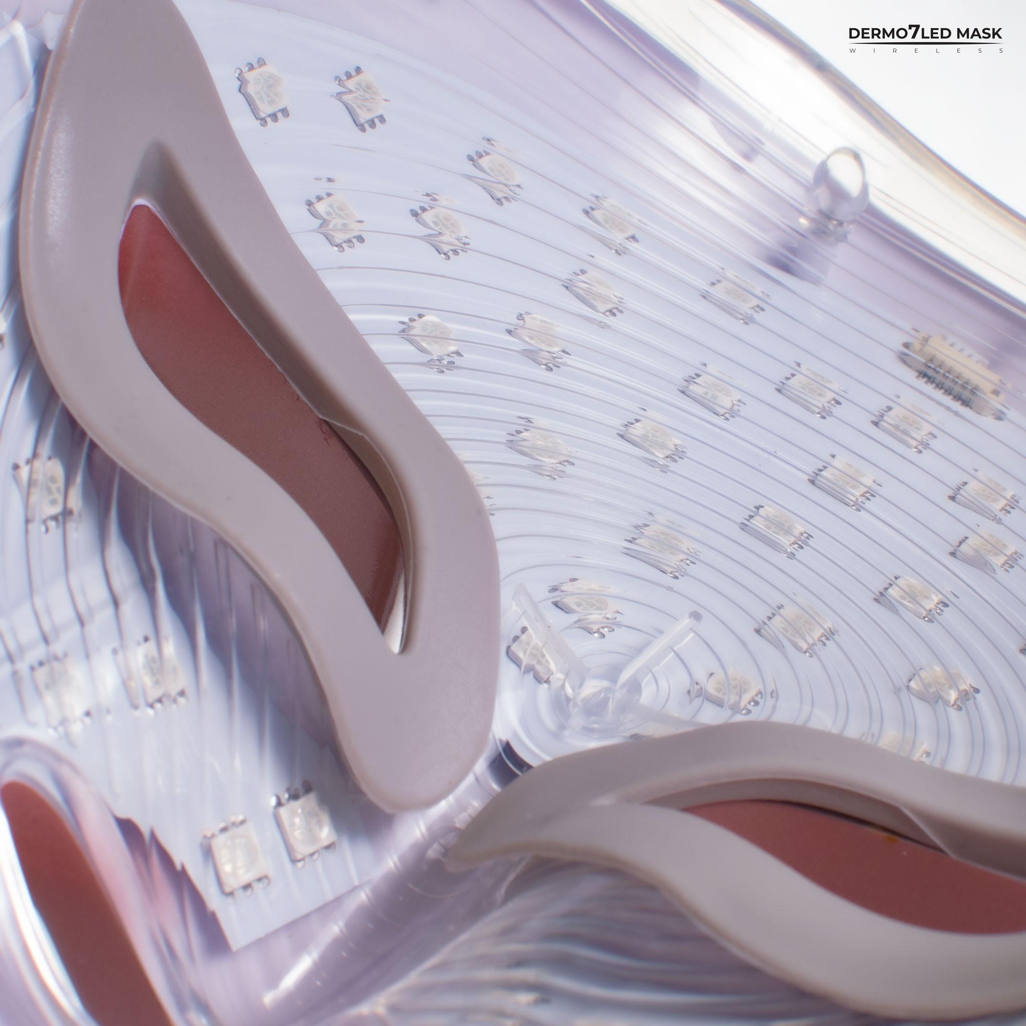 Bezprzewodowa maska DERMO 7 LED MASK na twarz